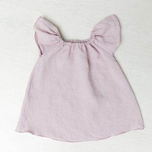 Lasten pellavamekko roosa